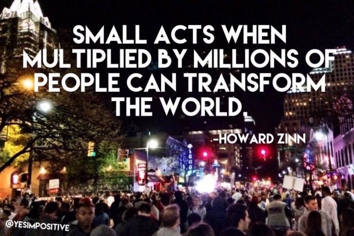Howard Zinn Inspirational Quote