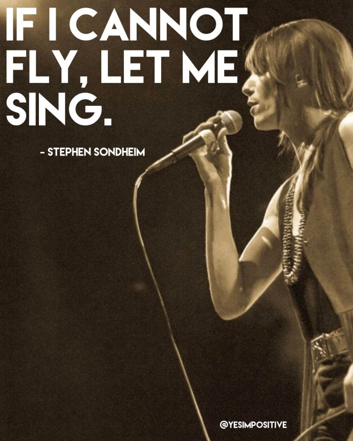 Stephen Sondheim singing quote